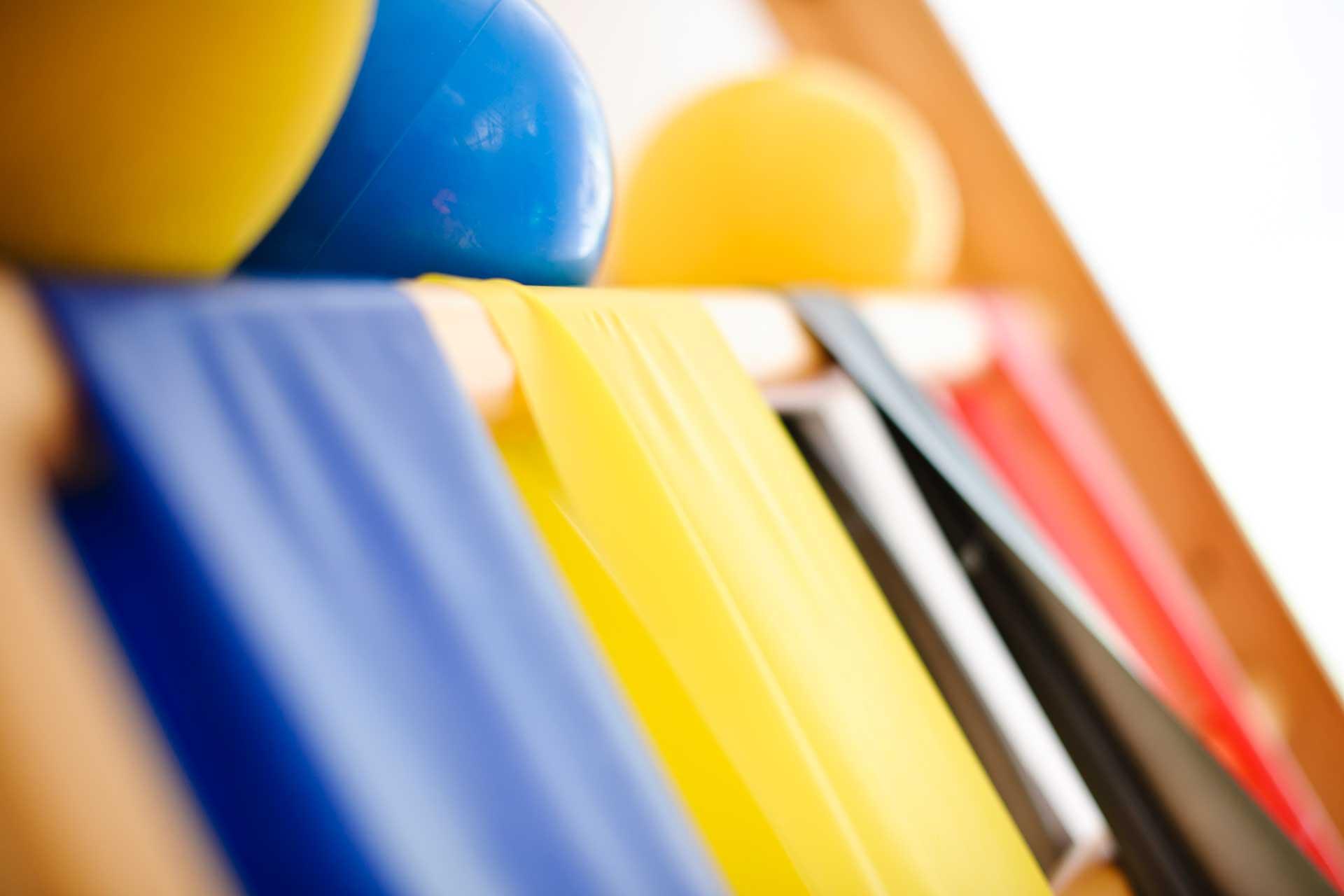 Therapiezentrum Stubai - Detail Fitnessbänder & Gymnastikbälle