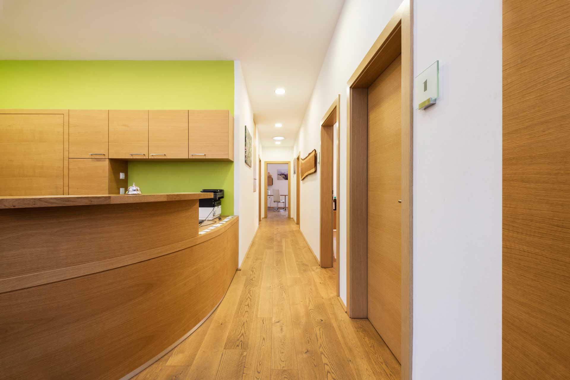 Therapiezentrum Stubai - Eingangsbereich & Empfang
