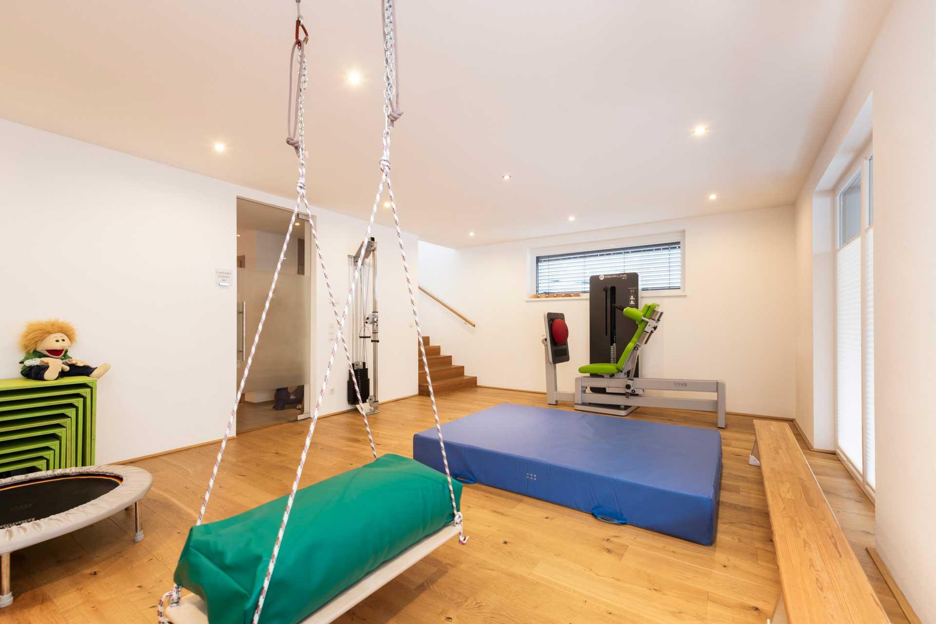 Therapiezentrum Stubai - Trainingsraum auch für Kinder